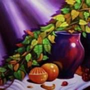 Still Life W/purple Vase Art Print