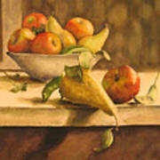 Still-life With Apples And Pears Art Print