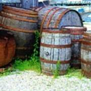 Still Life With Barrels Art Print