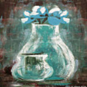 Still Life With Blue Flowers Art Print