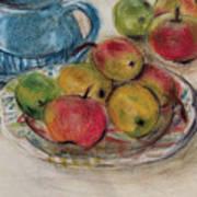 Still Life With Blue Teapot 2 Art Print