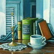 Still Life With Books Art Print