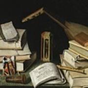 Still Life With Books Art Print