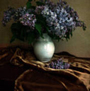 Still Life With Bouqet Of Fresh Lilac Art Print
