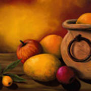 Still Life With Ceramic Pot Art Print