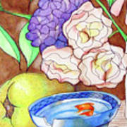 Still Life With Fish Art Print by Loretta Nash
