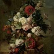 Still Life With Flowers, 1789 Art Print