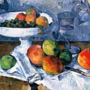 Still Life With Fruit Dish Art Print