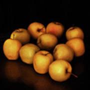 Still Life With Golden Apples Art Print