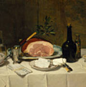 Still Life With Ham Art Print