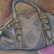 Still Life With Handbag And Notepad Art Print