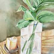 Still Life With Leaf Art Print