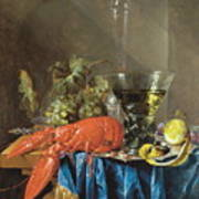 Still Life With Lobster 1655 Art Print