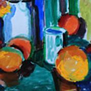 Still Life With Orange Art Print
