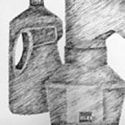 Still Life With Popcorn Maker And Laundry Soap Bottle Art Print