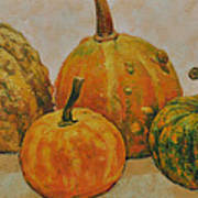 Still Life With Pumpkins Art Print
