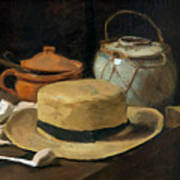 Still Life With Straw Hat, By Vincent Van Gogh, 1881, Kroller-mu Art Print