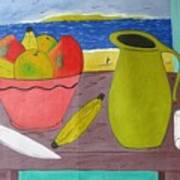Still Life With Sunsed Art Print