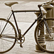 Still Life With Trek Bike In Sepia Art Print