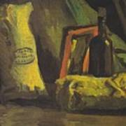 Still Life With Two Bags And Bottle Art Print