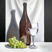 Still Life With White Wine Art Print