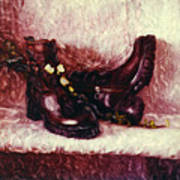Still Life With Winter Shoes - 1 Art Print