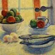 Stilleven Met Vis 1885 Art Print