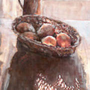Stillife With Onions Art Print
