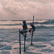 Stilt Fishermen Of Sri Lanka Art Print