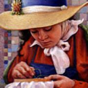 Stitch In Time Art Print by Jane Bucci