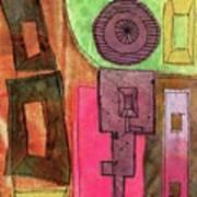 Stitched Towers  Art Print