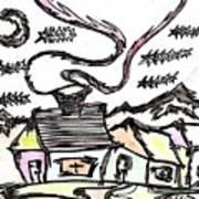 Stitchlip's House Art Print by Levi Glassrock