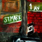 St.marks Place Art Print