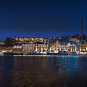Stockholm By Night Art Print