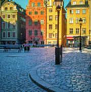 Stockholm Stortorget Square Art Print