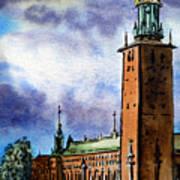 Stockholm Sweden Art Print by Irina Sztukowski