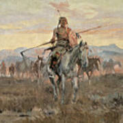Stolen Horses Art Print by Charles Marion Russell