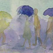 Stomping In The Rain Art Print