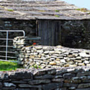 Stone Barn Doolin Ireland Art Print