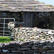 Stone Barn Doolin Ireland Art Print