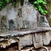 Stone Bench Two Art Print