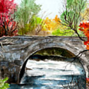 Stone Bridge In Maine  Art Print