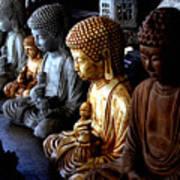Stone Buddhas Art Print
