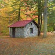 Stone Building In Autumn Art Print