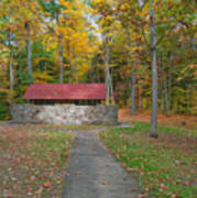 Stone Building In The Park Art Print