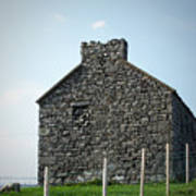 Stone Building Maam Ireland Art Print