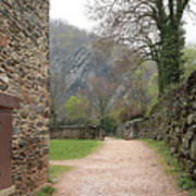 Stone Building Wall And Fence Art Print