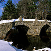 Stone Double Arched Bridge - Hillsborough New Hampshire Usa Art Print