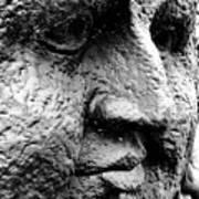 Stone Face Art Print