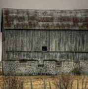 Stone Foundation Barn Art Print